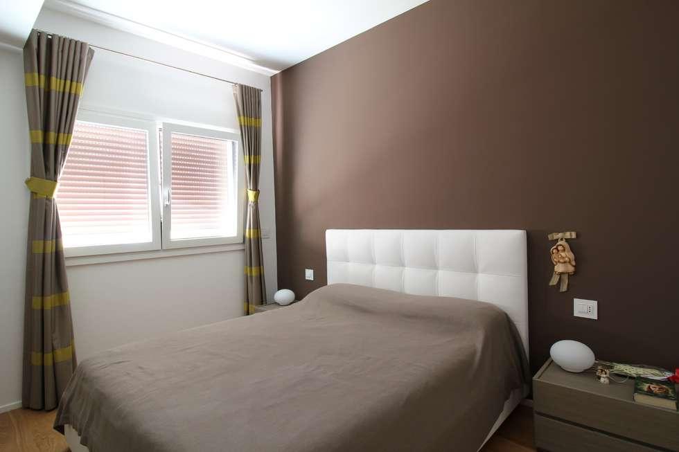Appartamento a palermo 2013 camera da letto in stile in stile moderno di giuseppe rappa - Camera da letto marrone ...