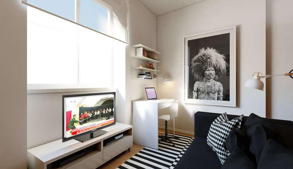 Foto di soggiorno in stile in stile minimalista di josé ...