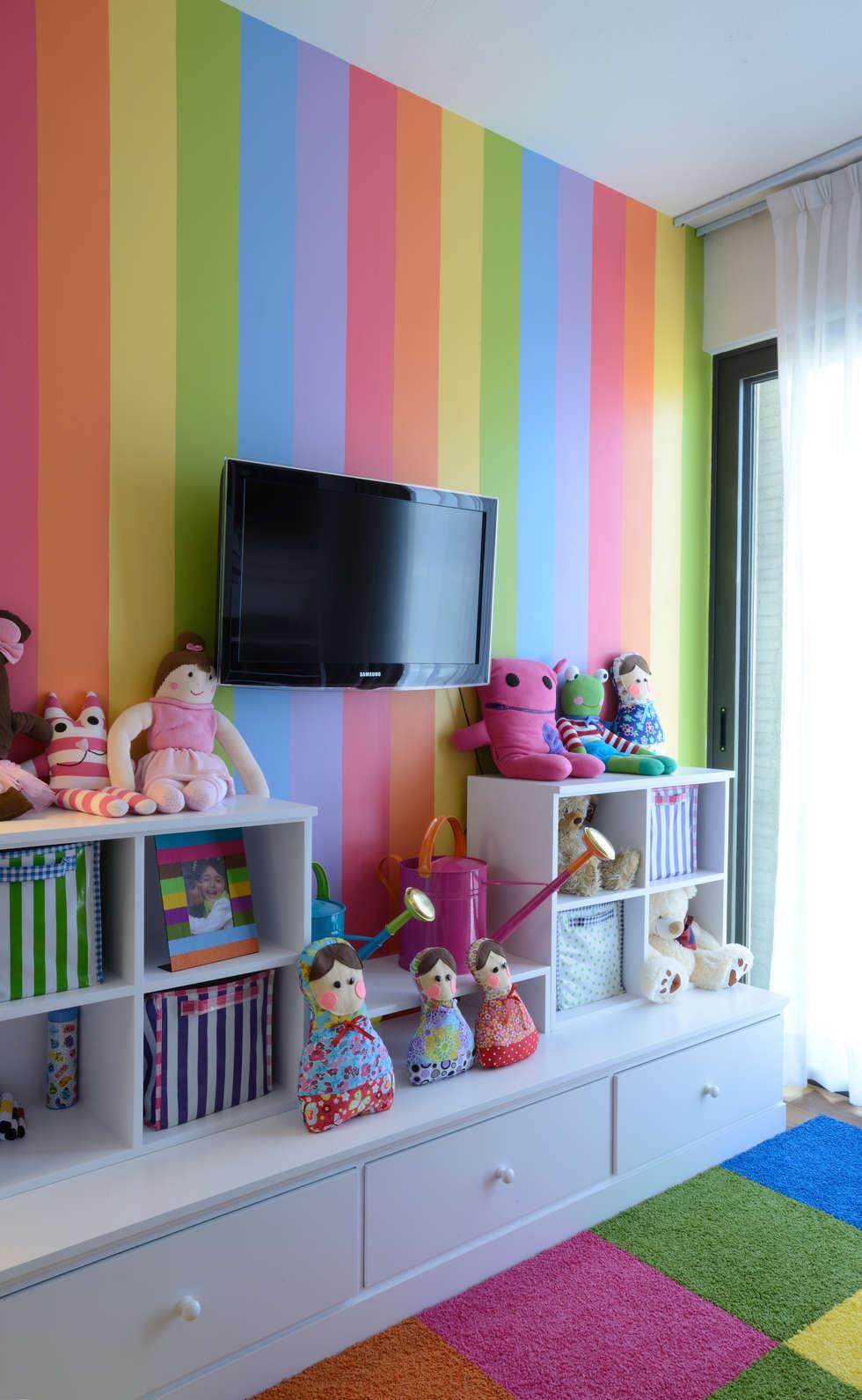 Recamara infantil habitaciones infantiles de estilo por victoria plasencia interiorismo homify - Colores para dormitorios infantiles ...