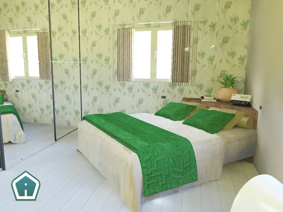 Camere: Camera da letto in stile in stile Moderno di 3d Casa Design