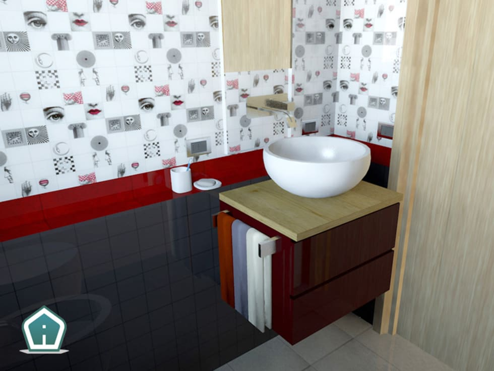 Bagni: Bagno in stile in stile Moderno di 3d Casa Design