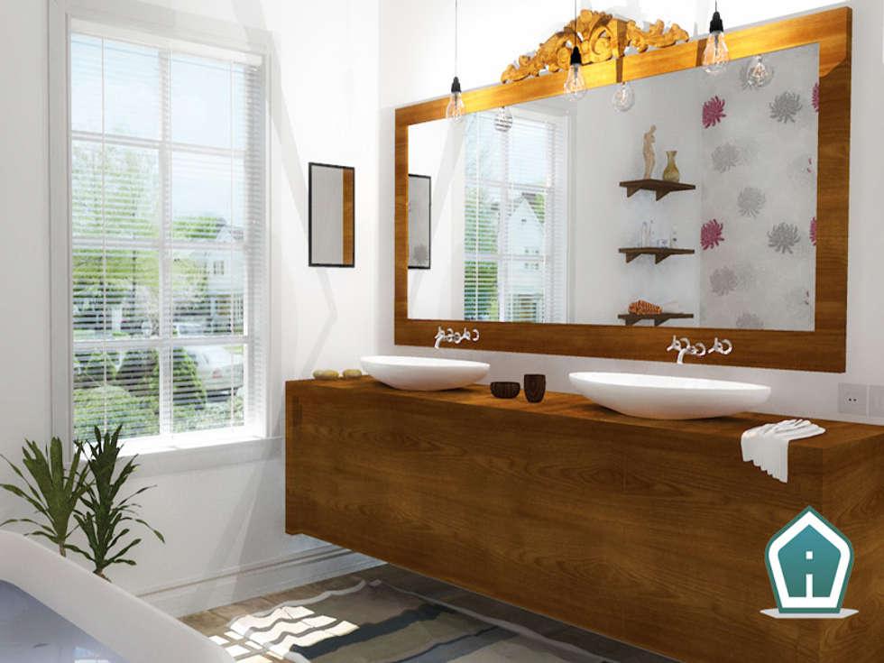 Bagni: Bagno in stile in stile Coloniale di 3d Casa Design