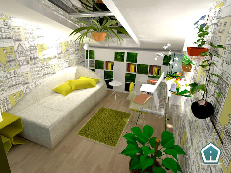 Camerette: Studio in stile in stile Moderno di 3d Casa Design