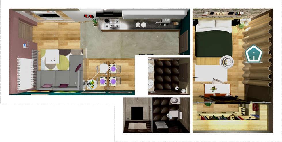 Idee arredamento casa interior design homify for Planimetria 3d