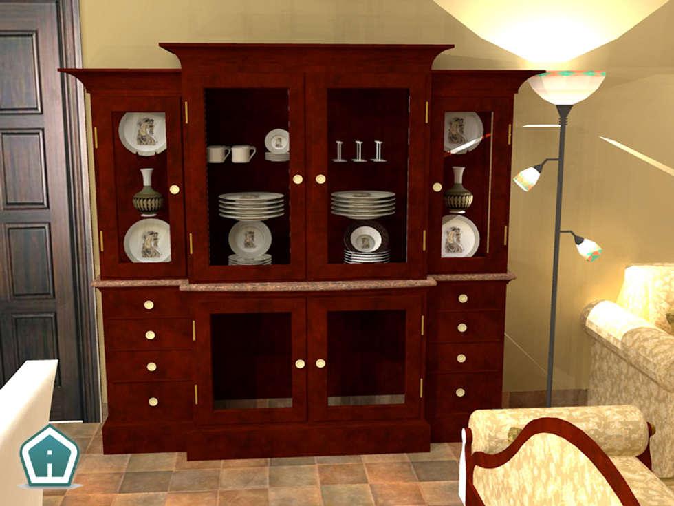 Soggiorni: Sala da pranzo in stile in stile Rustico di 3d Casa Design