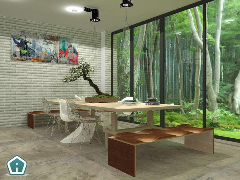 Soggiorni: Sala da pranzo in stile in stile Moderno di 3d Casa Design