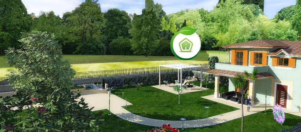 Esterni e giardini: Giardino in stile in stile Moderno di 3d Casa Design