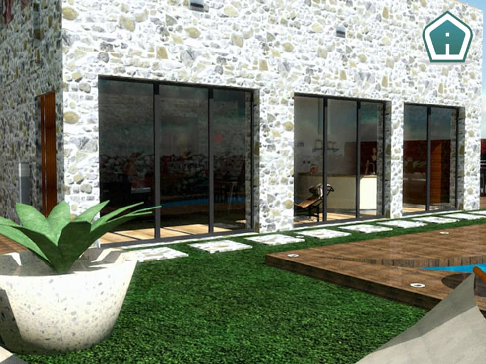 Esterni e giardini: Case in stile in stile Moderno di 3d Casa Design