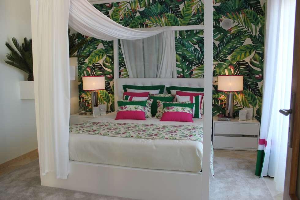 tropical Bedroom by Andreia Louraço - Designer de Interiores (Contacto: atelier.andreialouraco@gmail.com)