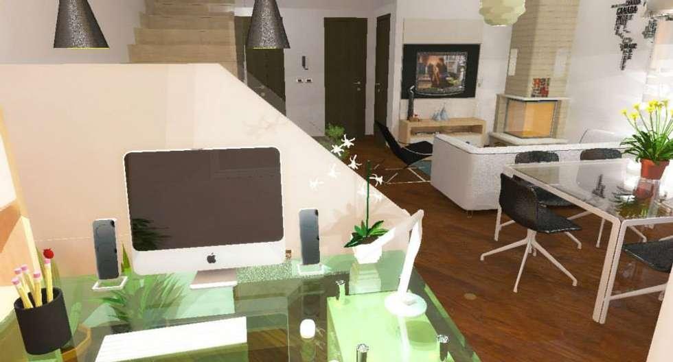 Home staging soggiorno: Studio in stile in stile Moderno di 3d Casa Design