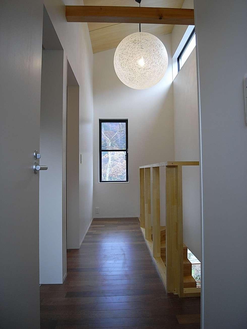 2階廊下: Unico design一級建築士事務所が手掛けた廊下 & 玄関です。