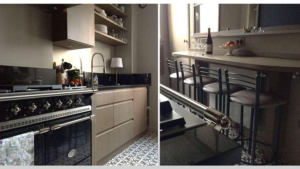 CUISINE - PARIS 17: Cuisine de style de style Moderne par ARCHITECTURAL DECO