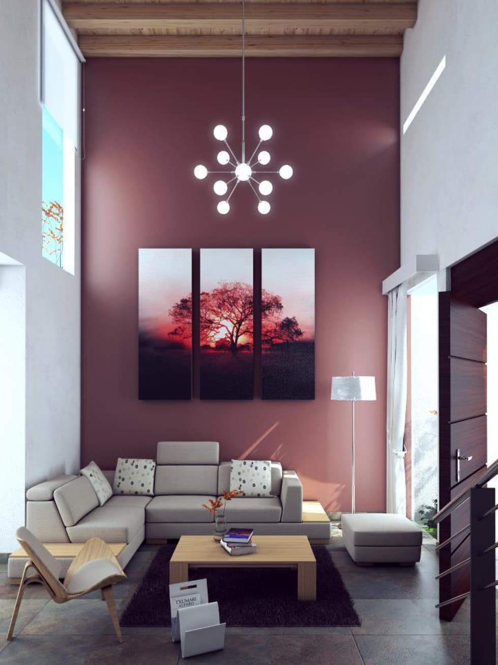 Salas / recibidores de estilo moderno por alfa studio arquitectura