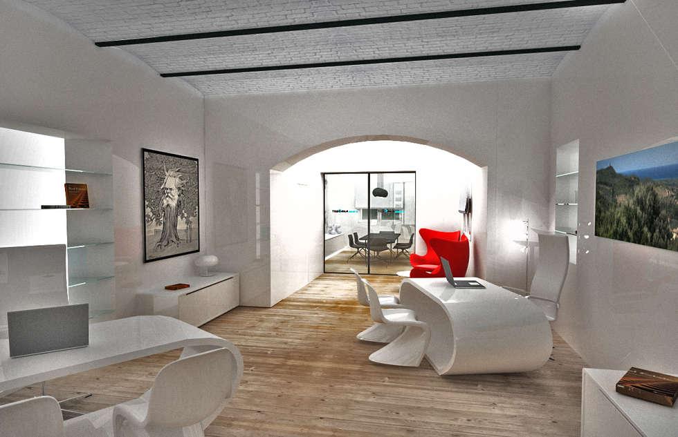 agenzia immobiliare: Negozi & Locali commerciali in stile  di 3d Creative Solution