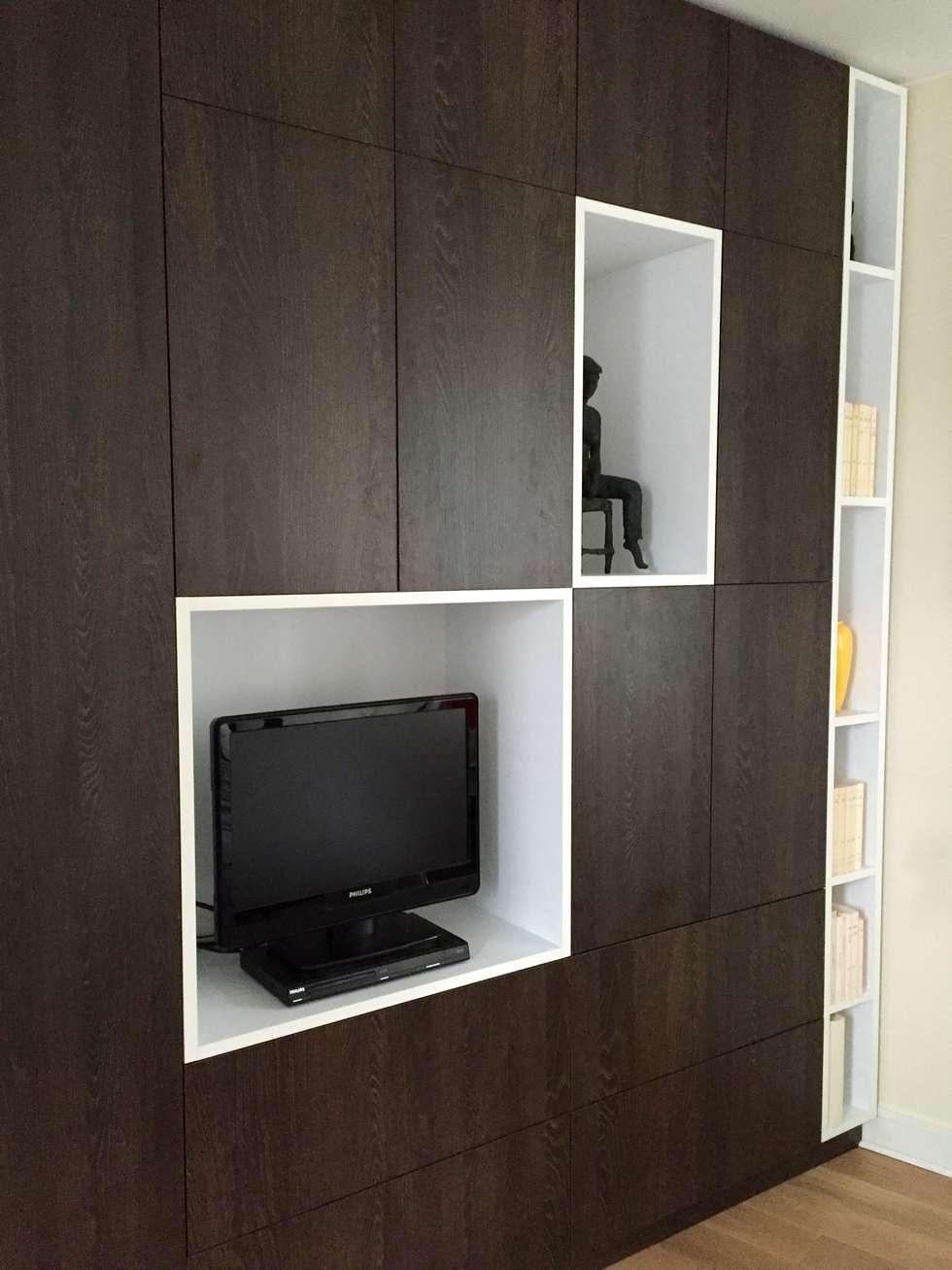 Zoom placards et niches: Chambre de style de style Minimaliste par Thomas JENNY