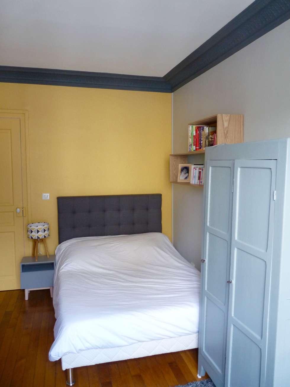 Peinture jaune: Chambre de style de style Moderne par Thomas JENNY