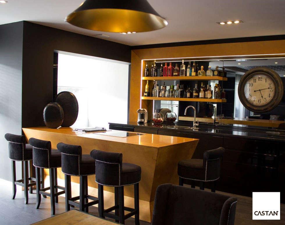 Espaço de degustação: Cozinhas modernas por Castan