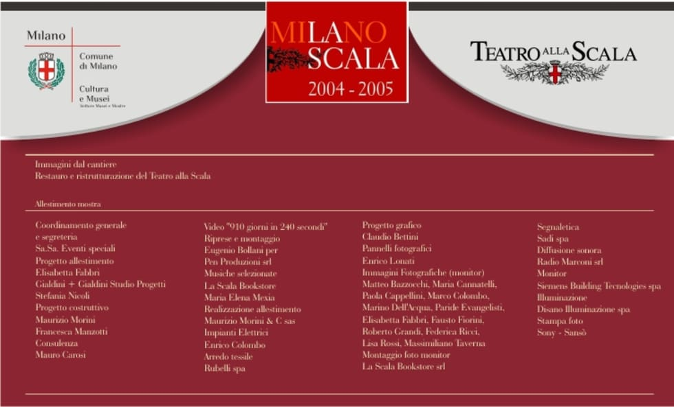 Teatro alla Scala - bettini design Bologna studio grafico: Sedi per eventi in stile  di bettini design