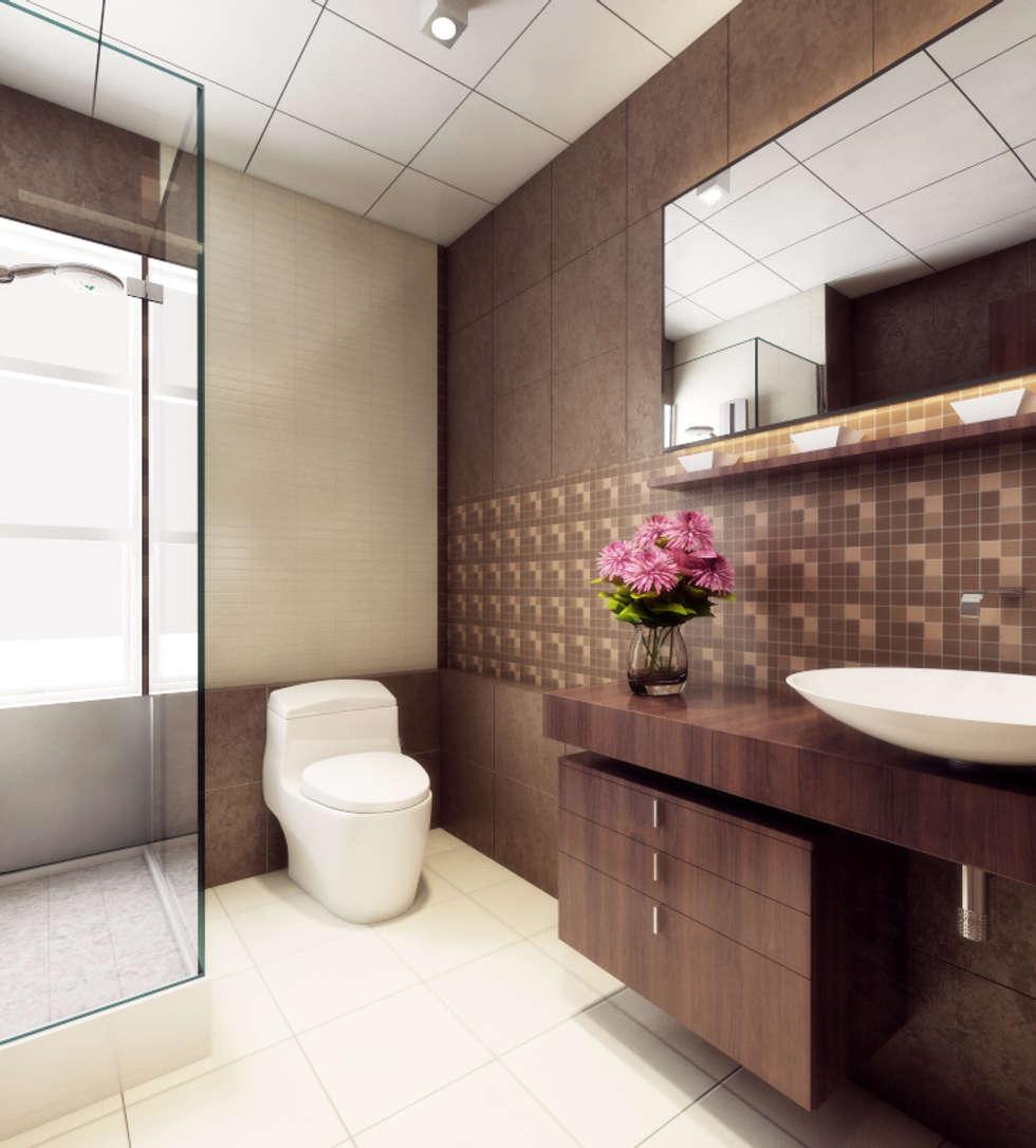 Singh Residence: modern Bathroom by Space Interface