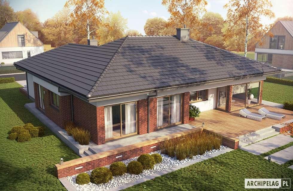 Projekt domu Dominik G2 (wersja B) : styl nowoczesne, w kategorii Domy zaprojektowany przez Pracownia Projektowa ARCHIPELAG