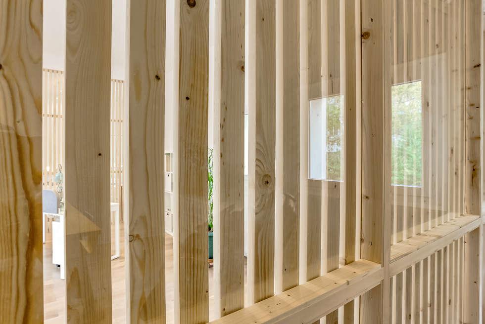 Détails cabanes, PROJET VINCENNES, Agence Transition Interior Design: Bureaux de style  par Transition Interior Design