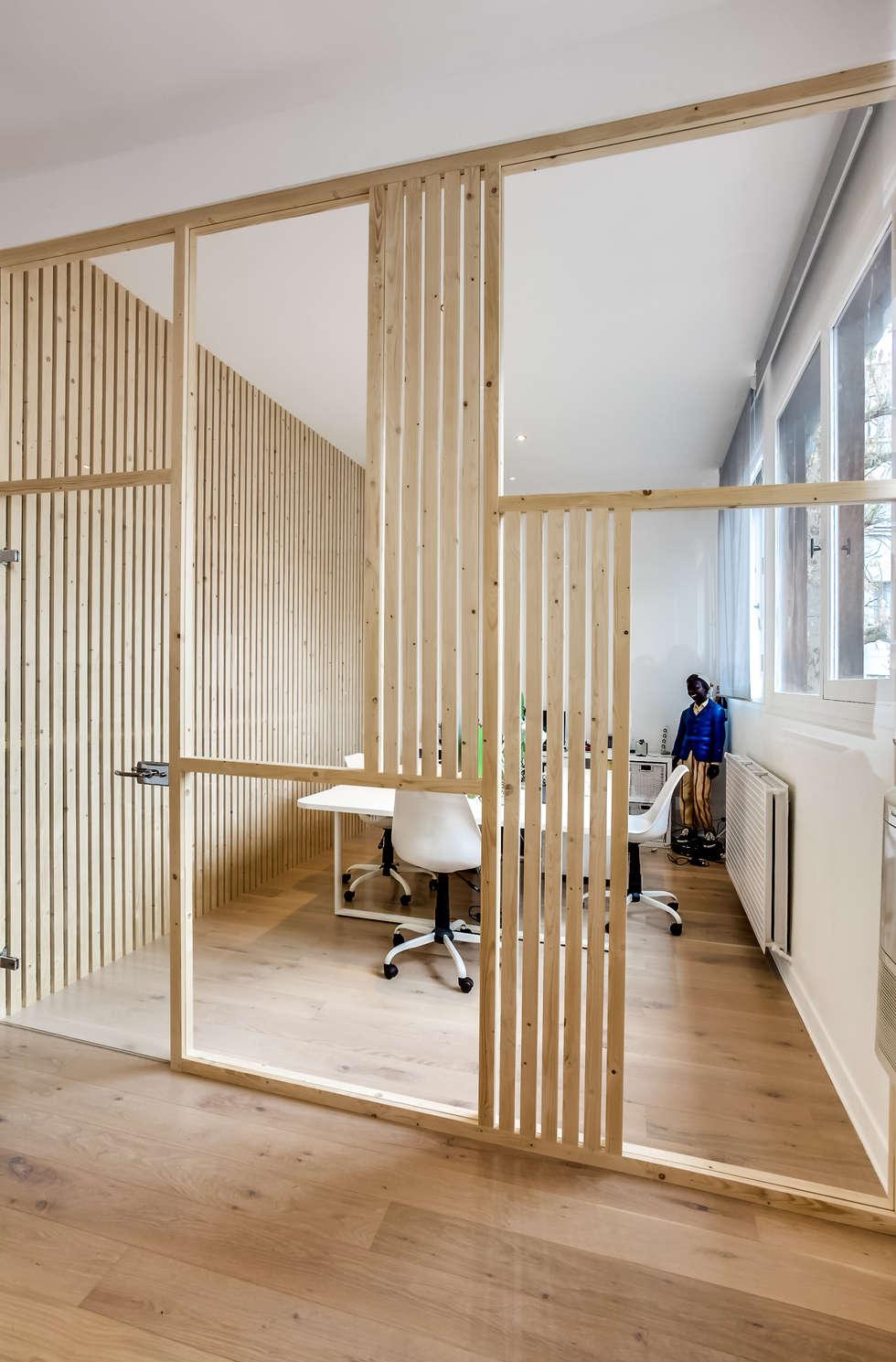 Salle agence Comside, PROJET VINCENNES, Agence Transition Interior Design: Bureaux de style  par Transition Interior Design