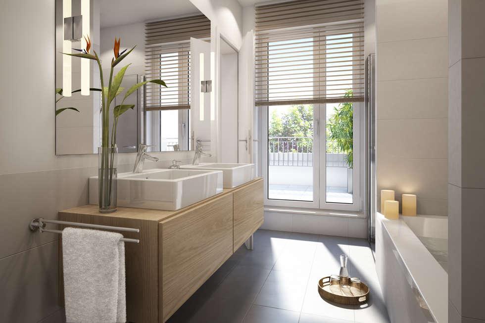 moderne badezimmer bilder: wohnung in frankfurt | homify