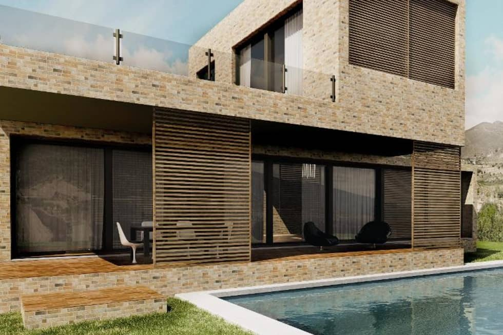 Piedra rustica para fachadas latest diseo interior casa - Piedra natural para fachadas ...
