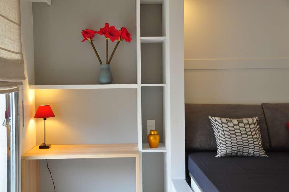 Côté Bureau: Chambre de style de style Scandinave par K Design Agency