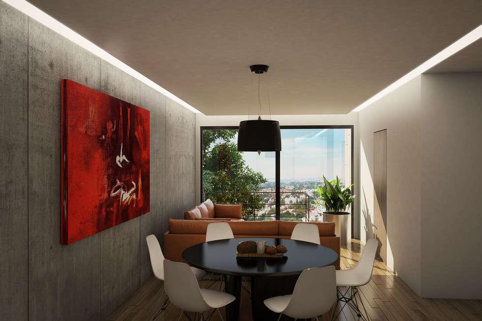 modern Dining room by Sulkin Askenazi