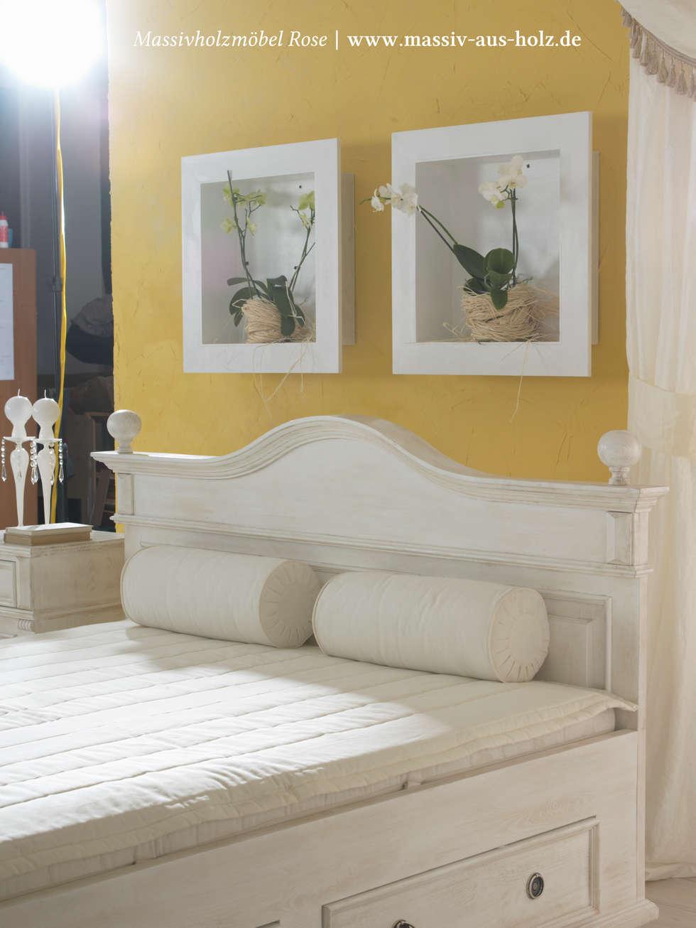 Elegant Massiv Aus Holz Sammlung Von Bett | Weiß & Holz: Mediterrane Schlafzimmer