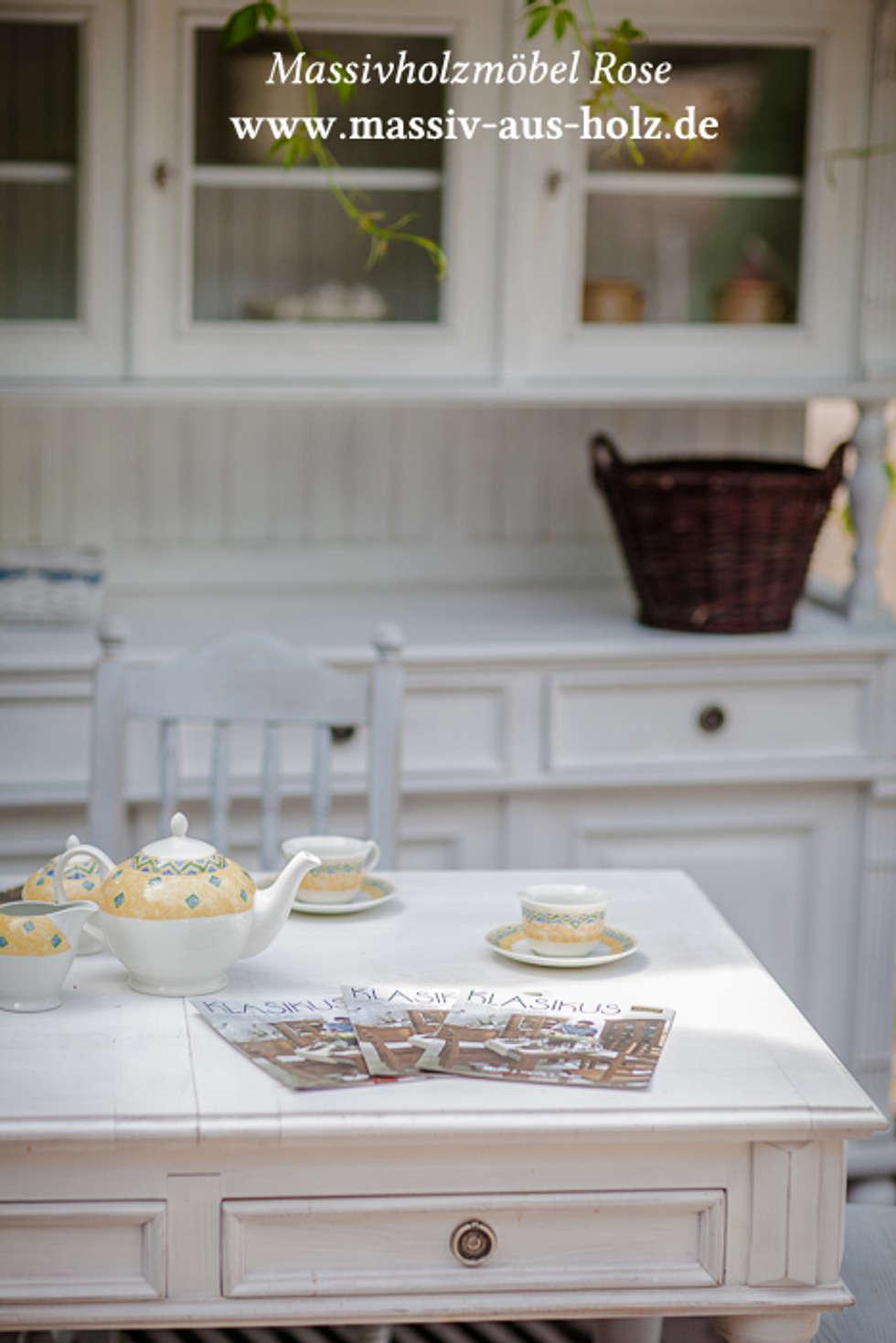 Attraktiv Landhausmöbel Esszimmer Dekoration Von Möbel Weiß: Mediterrane Von Massiv Aus Holz