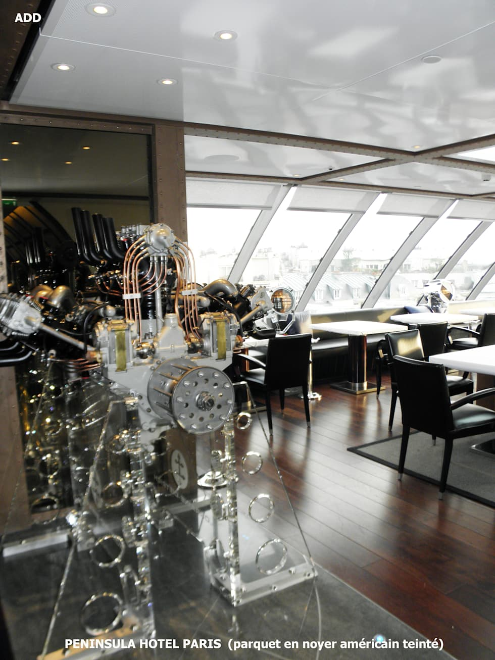 """Peninsula hotel paris restaurant """"l'oiseau blanc"""": Hôtels de style  par ADD"""