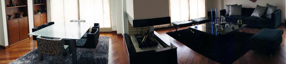 Gentleman  Apartament  ( apartamento para hombre soltero) : Comedores de estilo moderno por MARECO DESIGN S.A.S