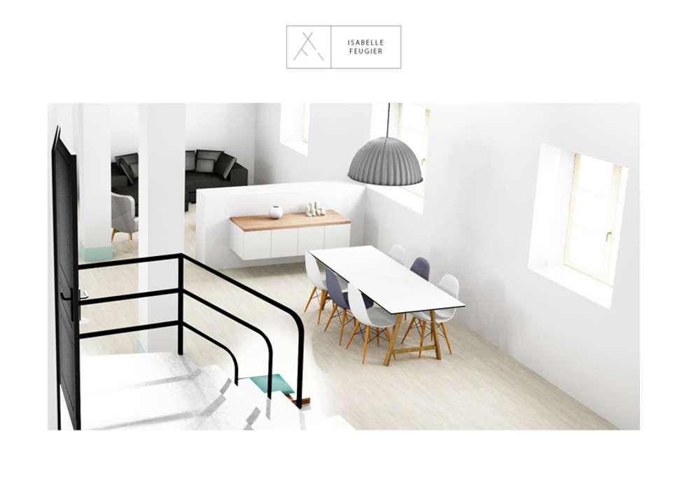 La salle à manger: Couloir et hall d'entrée de style  par SLOWOOD / MOUVANCE DESIGN