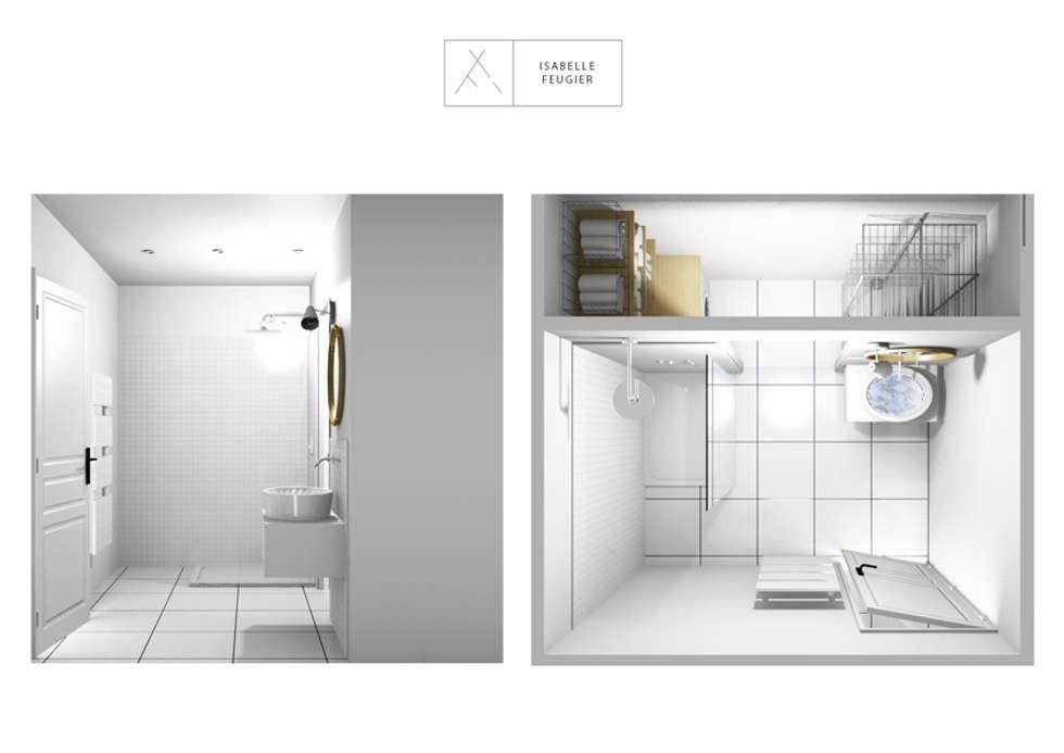 Salle de bain / Buanderie du premier étage: Salle de bains de style  par SLOWOOD / MOUVANCE DESIGN