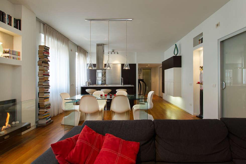 Foto di soggiorno in stile in stile moderno : unico ambiente  homify