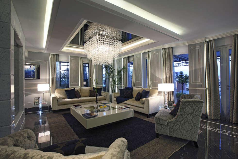 foto di soggiorno in stile in stile moderno : progetto   homify - Soggiorno Living Progetto
