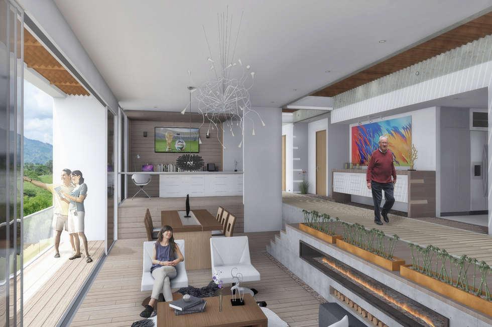 Área Social: Comedores de estilo minimalista por Ar4 Arquitectos