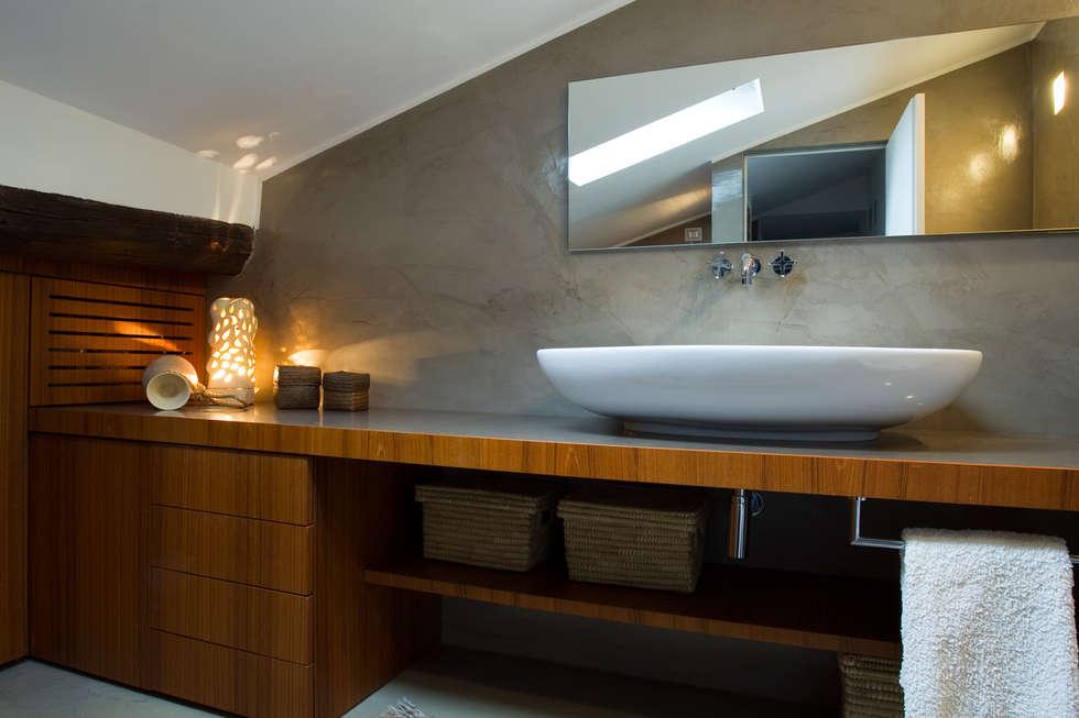 casa di ringhiera: Camera da letto in stile in stile Minimalista di studio ferlazzo natoli