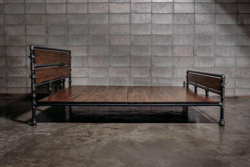 foto di camera da letto in stile in stile industriale di the pipe ... - Camera Da Letto In Stile