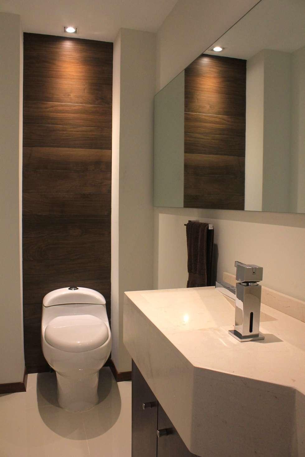 Ba o privado estudios y oficinas de estilo moderno por lc for Modelos de banos modernos para casa