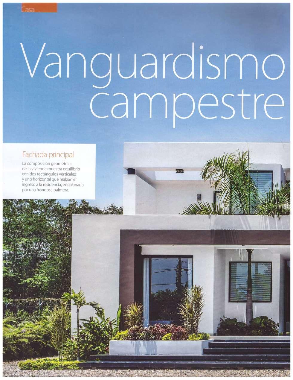 Portada 1 publicación Revista Mobiliari.: Casas de estilo moderno por Camilo Pulido Arquitectos