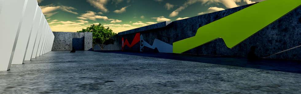 [ DGS ]   ESCUELA PRIMARIA: Casas de estilo industrial por DGS ARQUITECTOS,  S. A. DE  C. V.