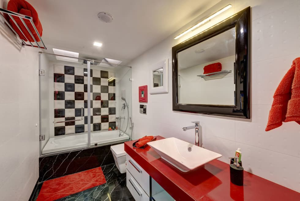 Agarwal Residence: modern Bathroom by Spaces and Design