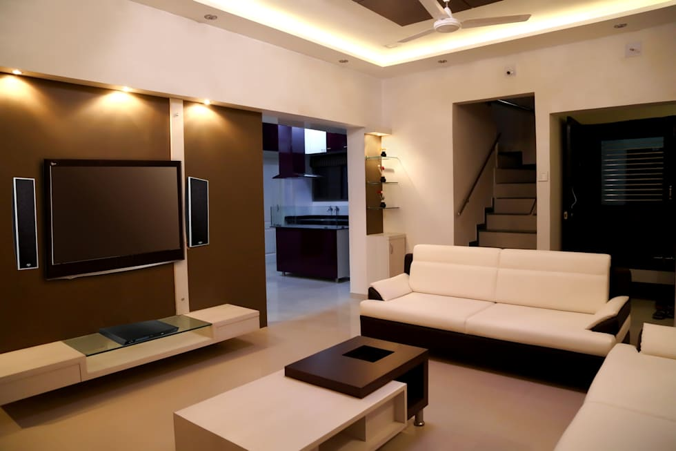 Drawing Room: Modern Living Room By ZEAL Arch Designs Part 66