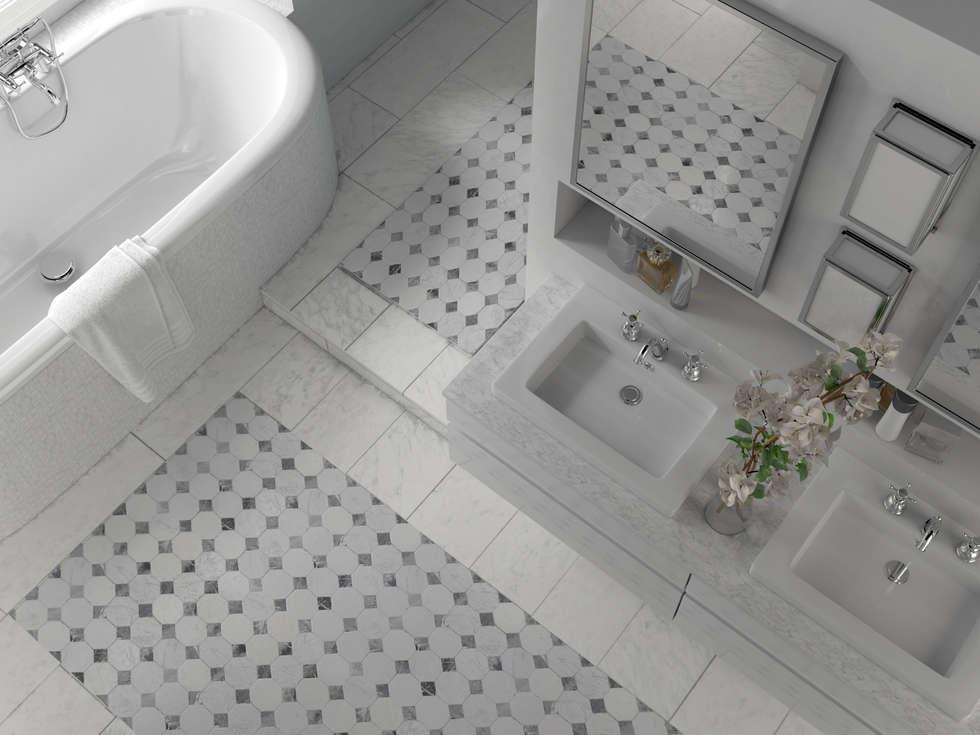 le motif du sol en mosaque de marbre salle de bain de style de style