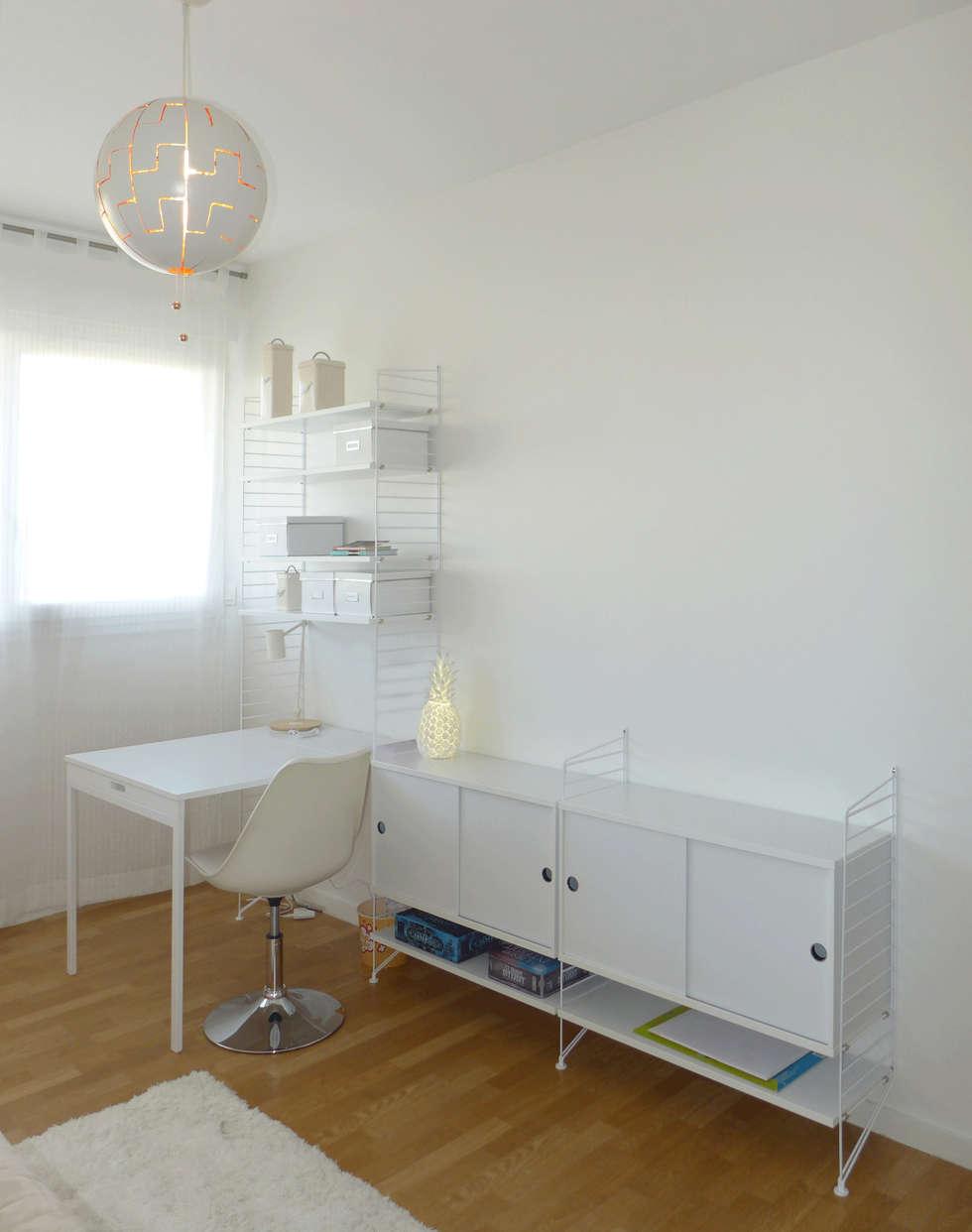 Bibliothèque et bureau épuré: Bureau de style de style Moderne par Skéa Designer