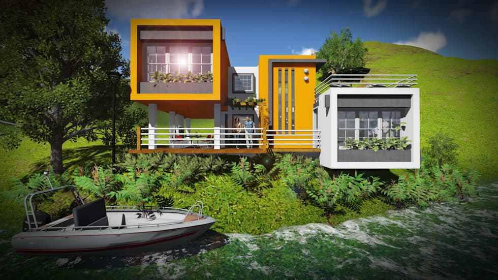 Volumen: Casas de estilo minimalista por John J. Rivera Arquitecto