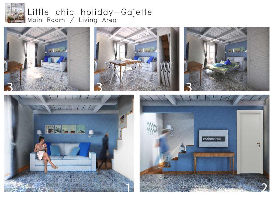 Casa per vacanze: Soggiorno in stile In stile Country di 4rch Gruppo di Architettura